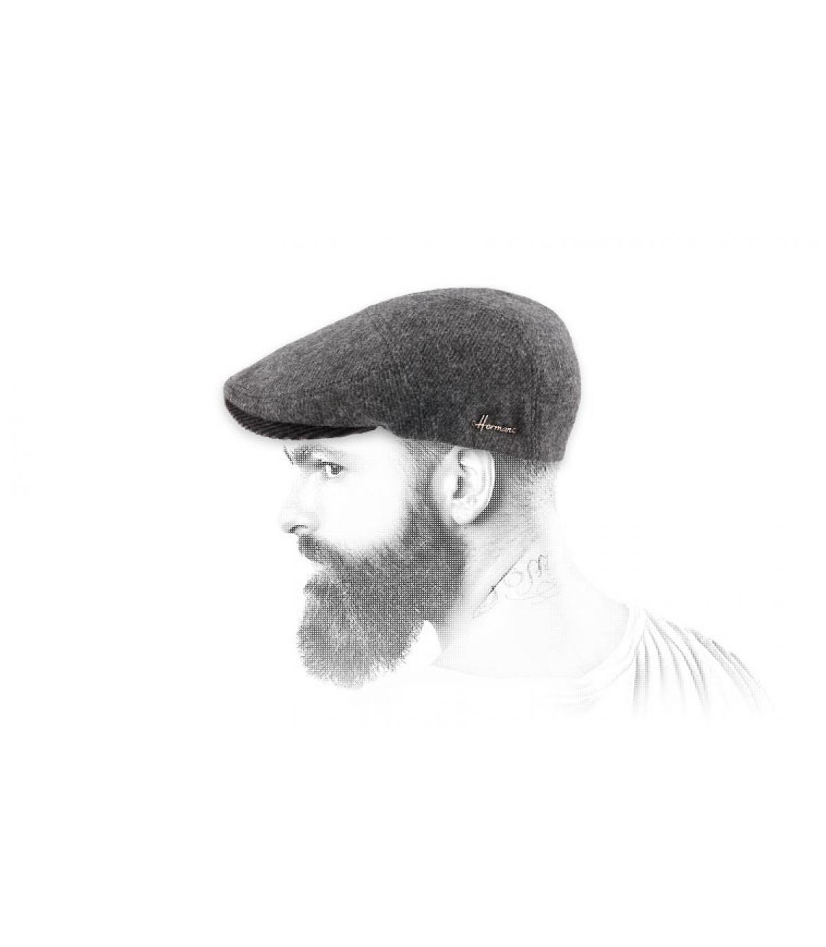 lana berretto grigio