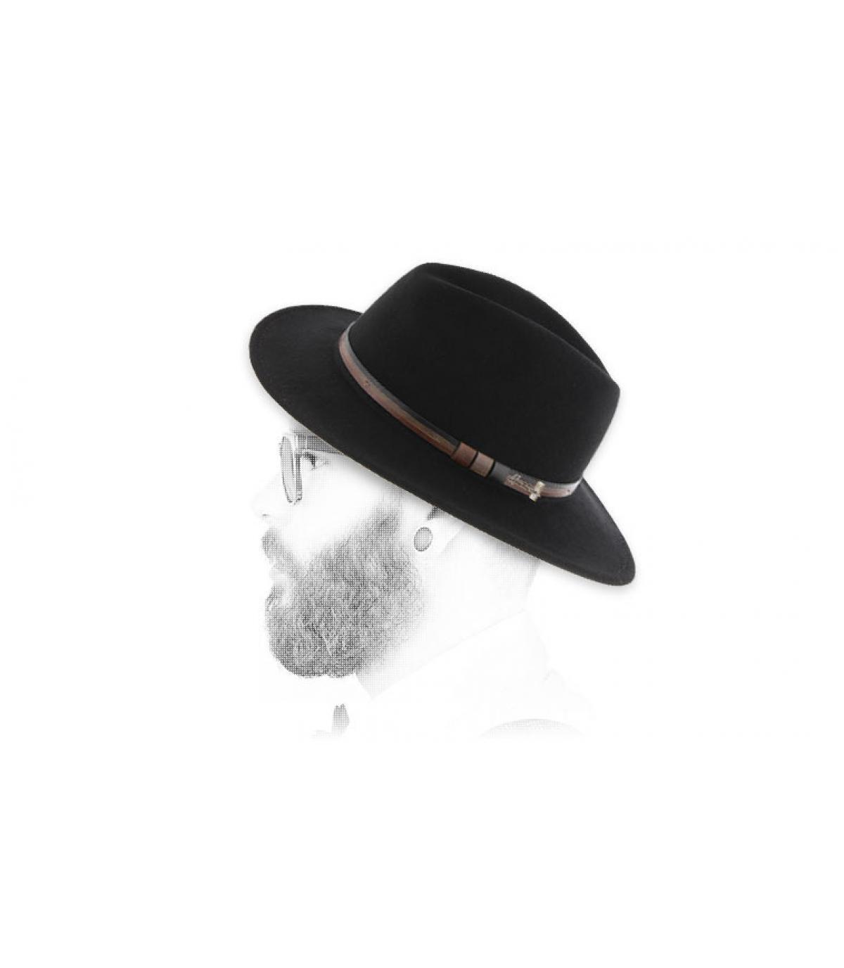 fedora in lana nero