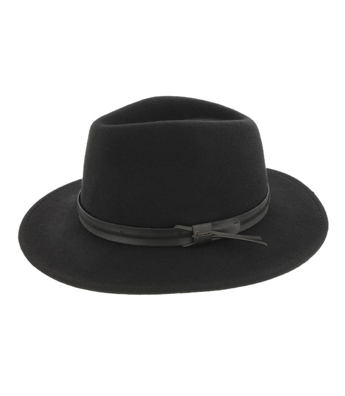 Herman fedora in lana nera