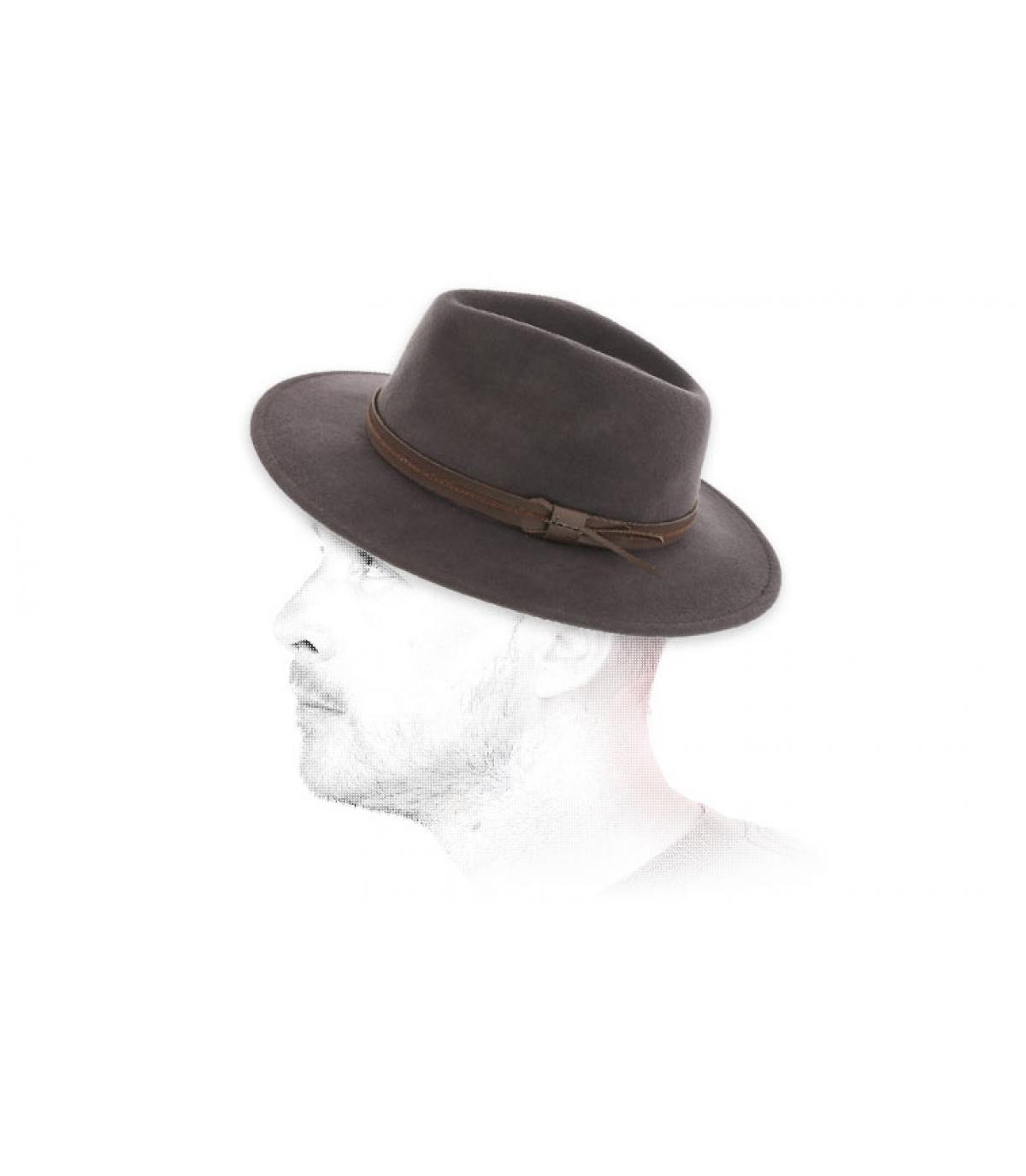 fedora grigio laine Herman