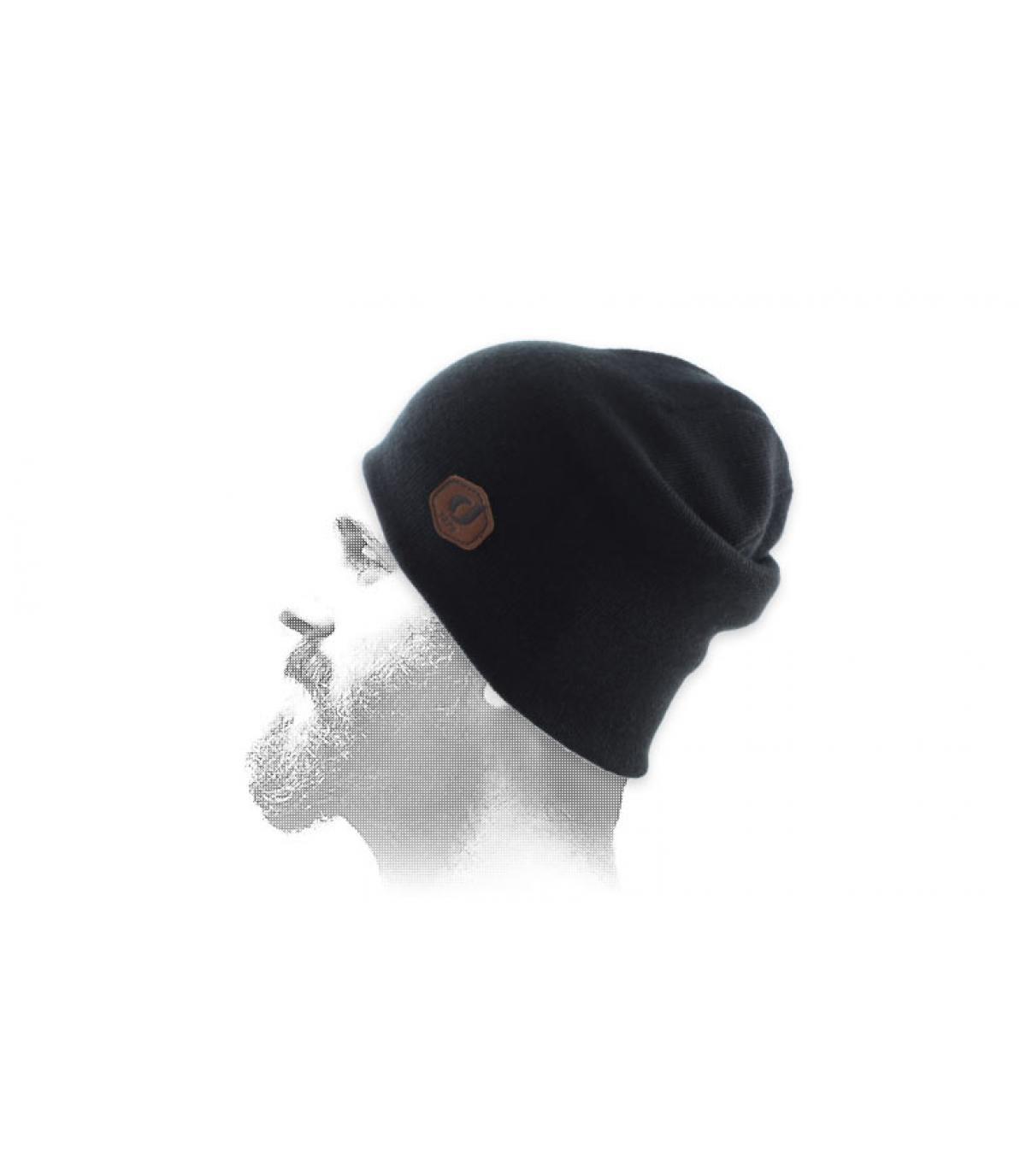 cappello nero del cuffia della patch