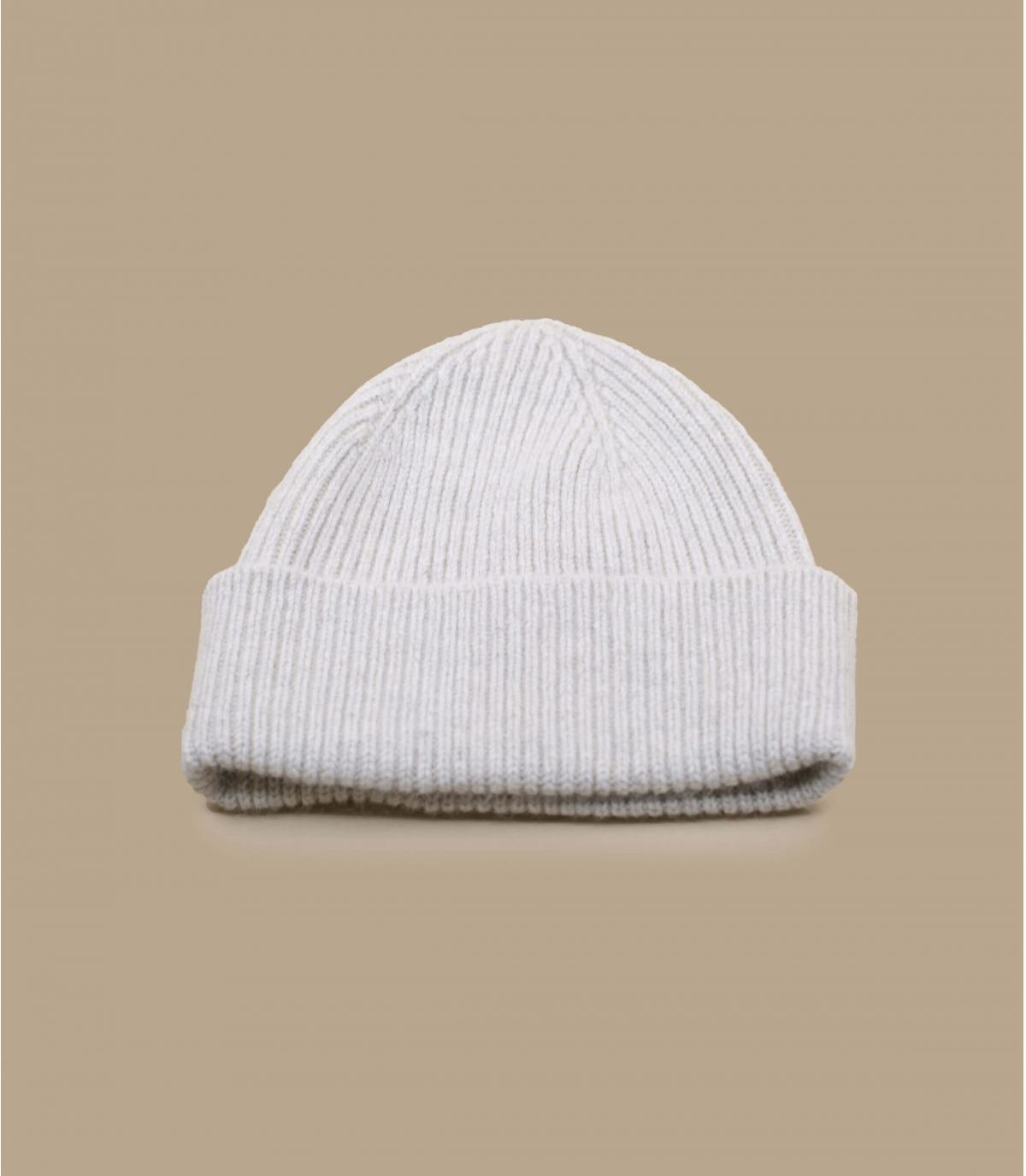 cappello bavero angora beige