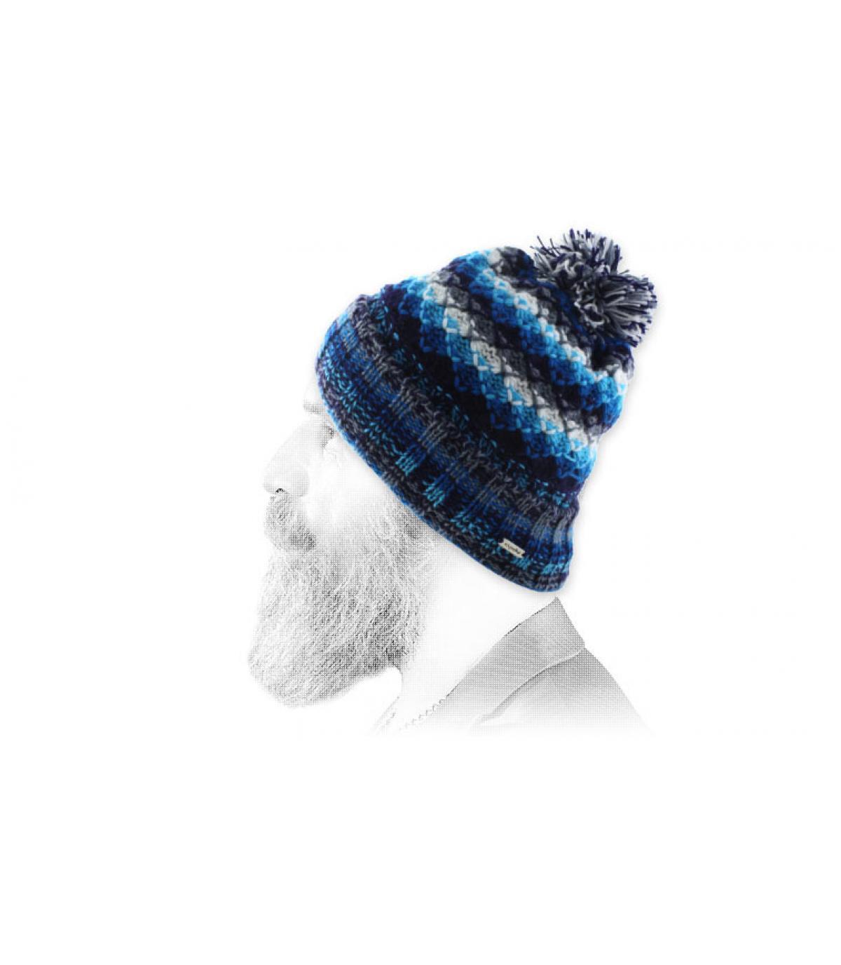 protezione bianca nappa blu