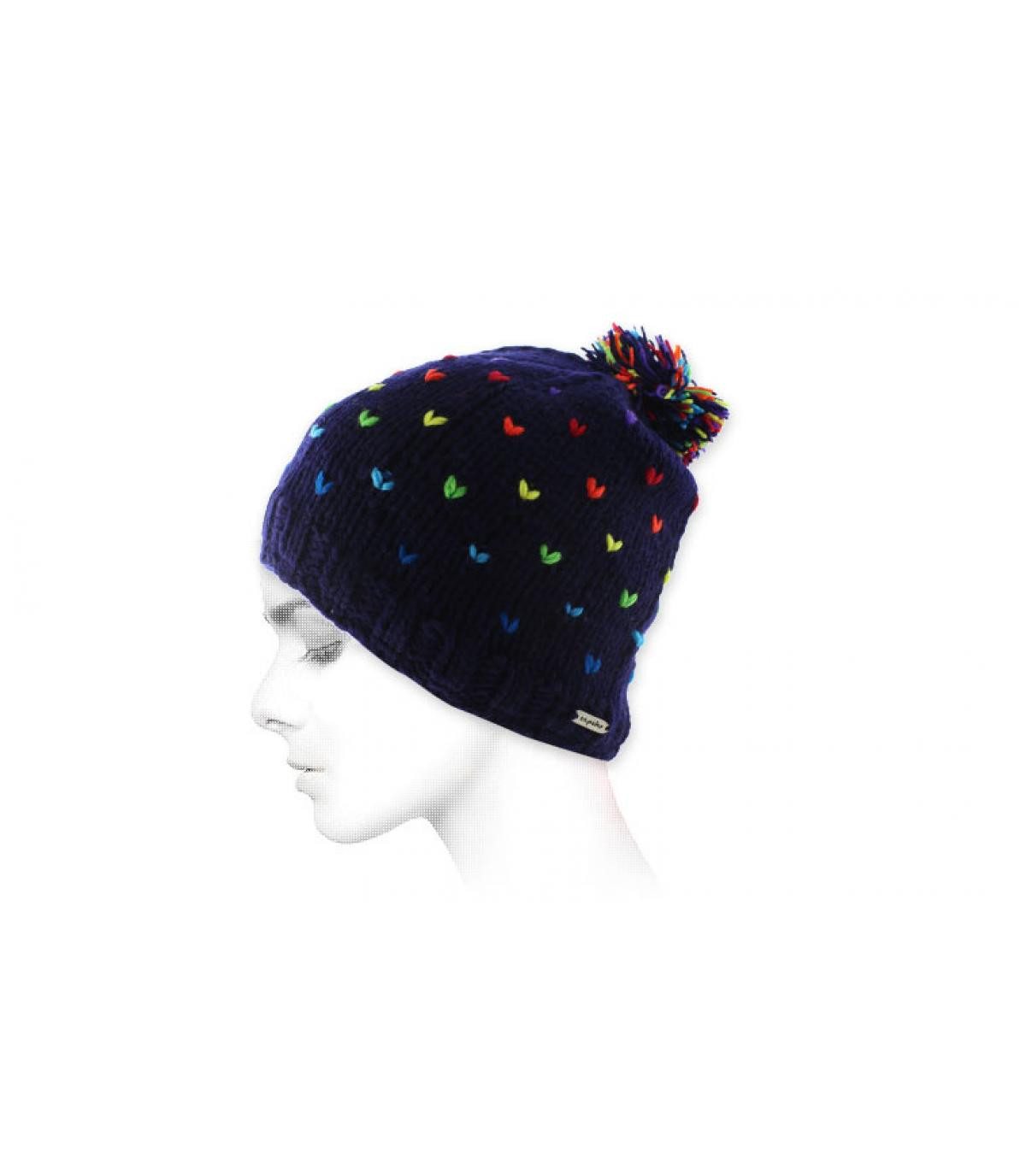 multicolore cap nappa blu
