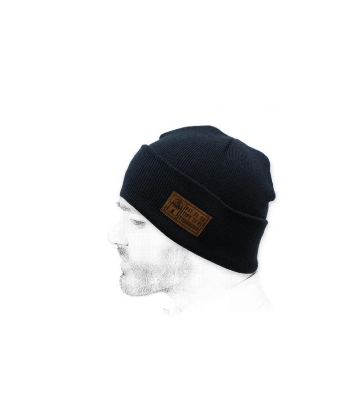 cappello robot blu