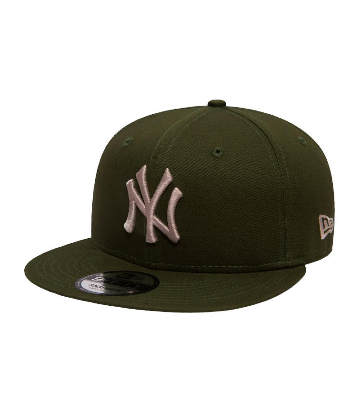 snapback NY verde grigio