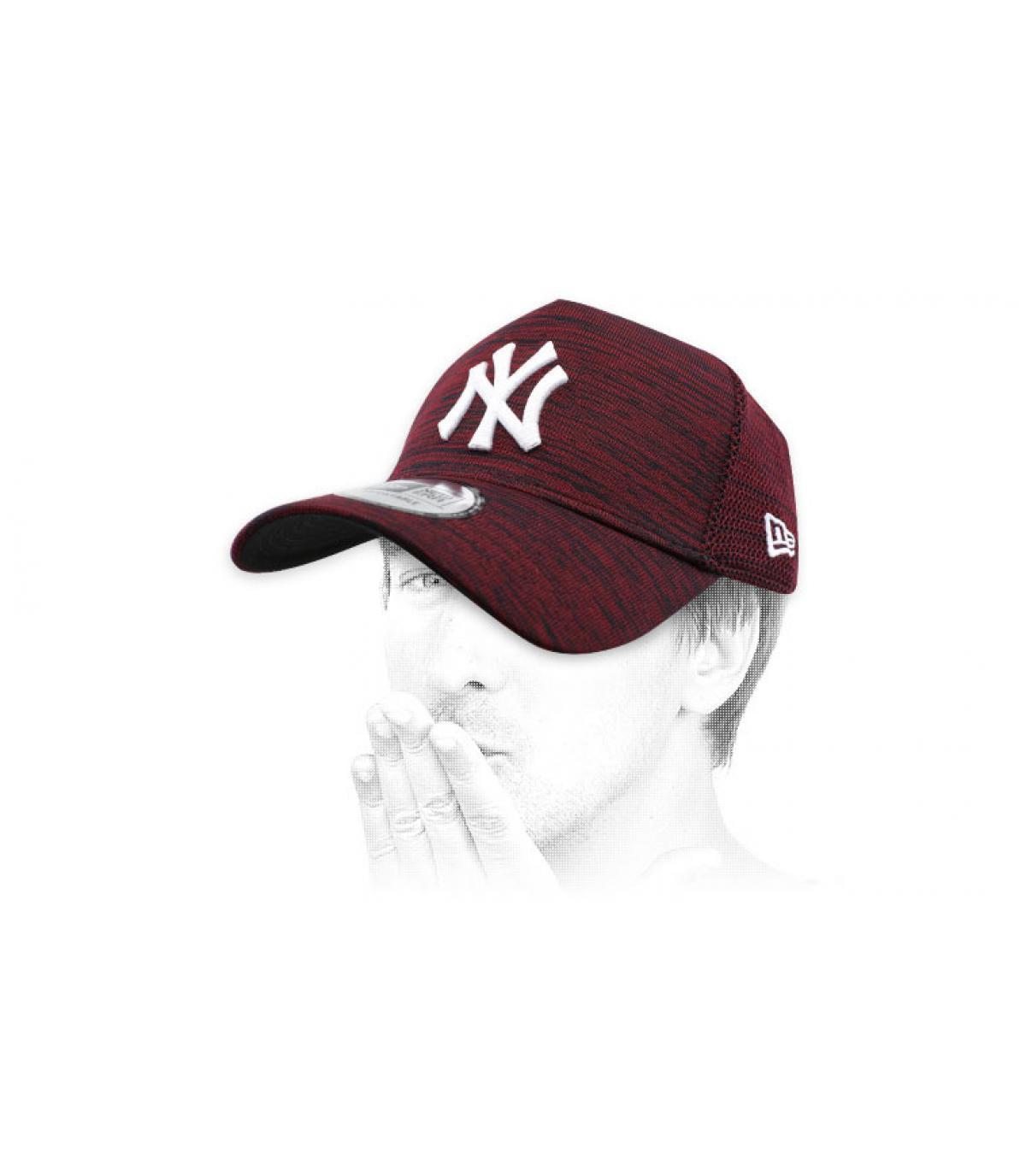 NY cappello di bordeaux