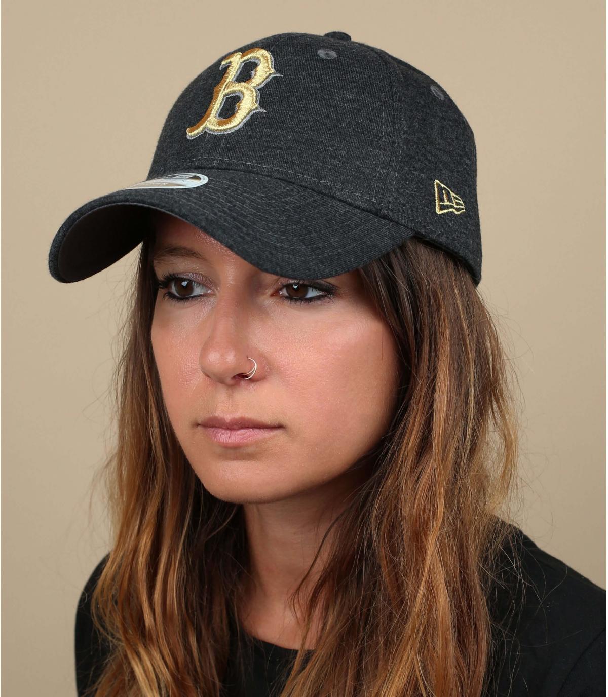 cappello donna B oro grigio