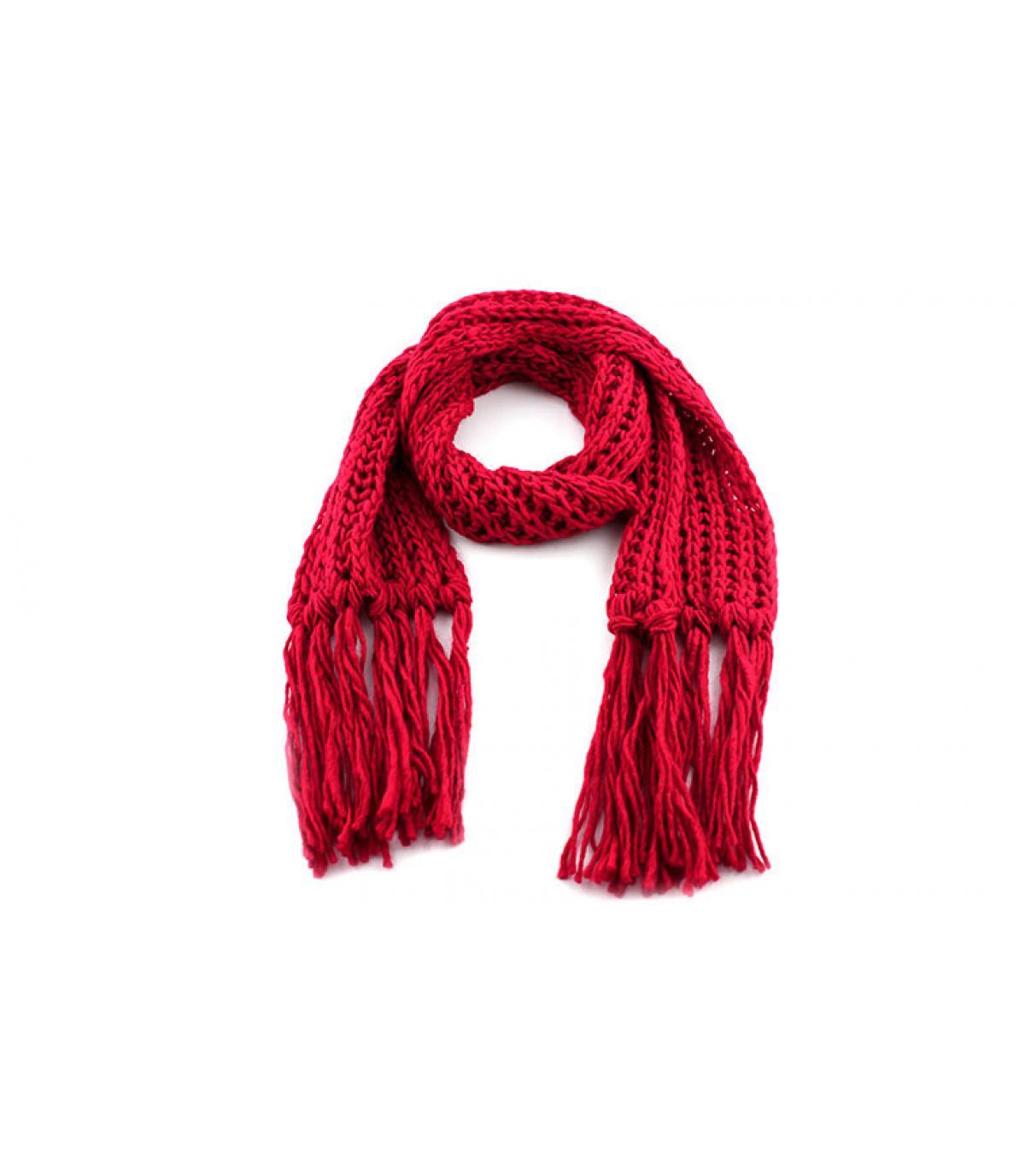Sciarpa rosso passigatti