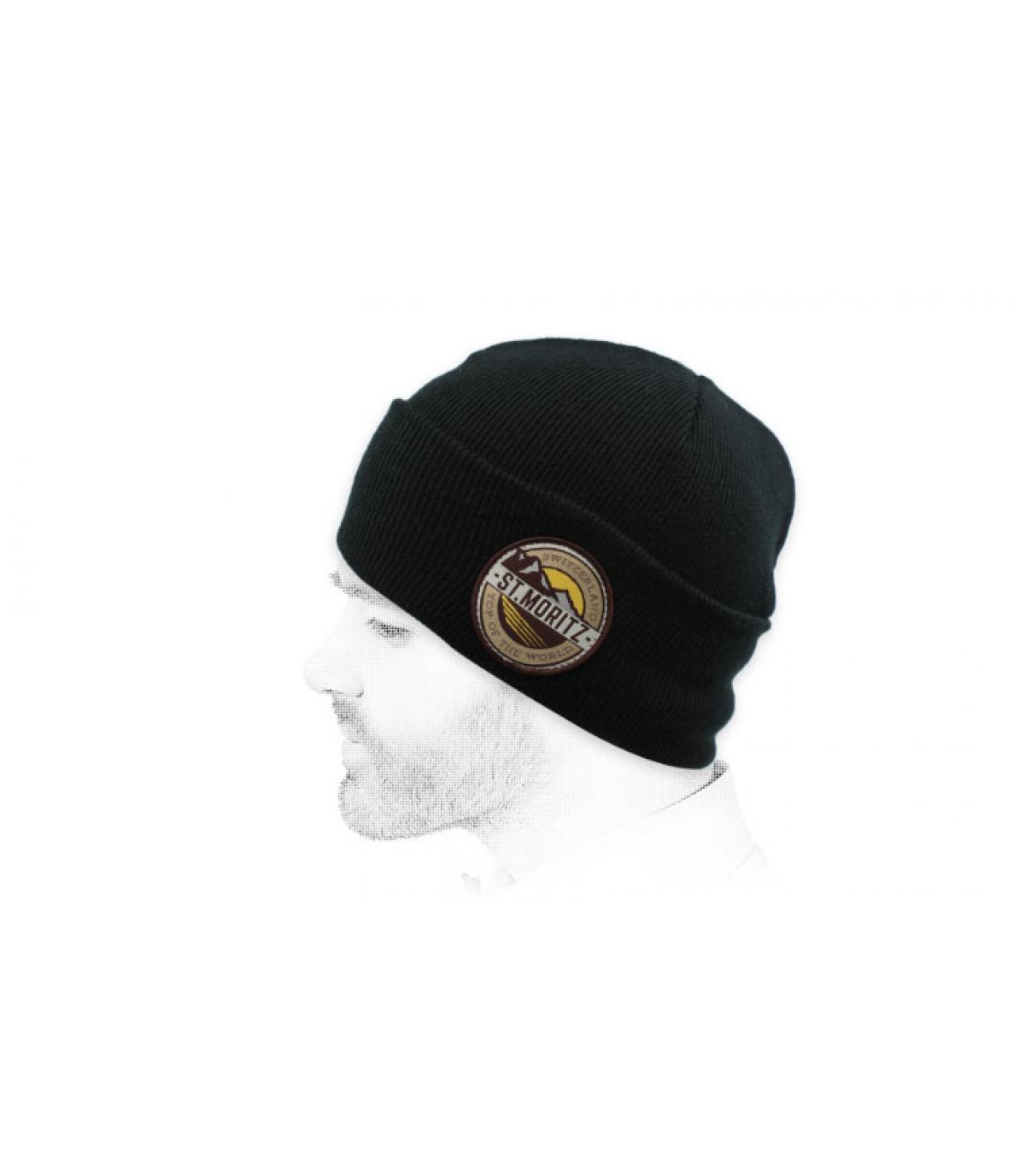 berretto nero di st moritz