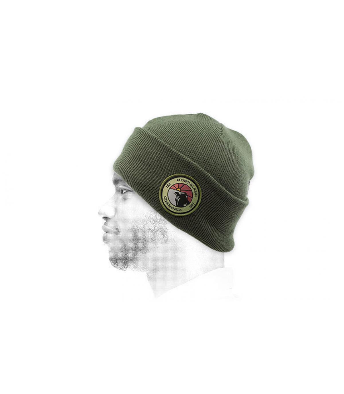 berretto verde mont blanc