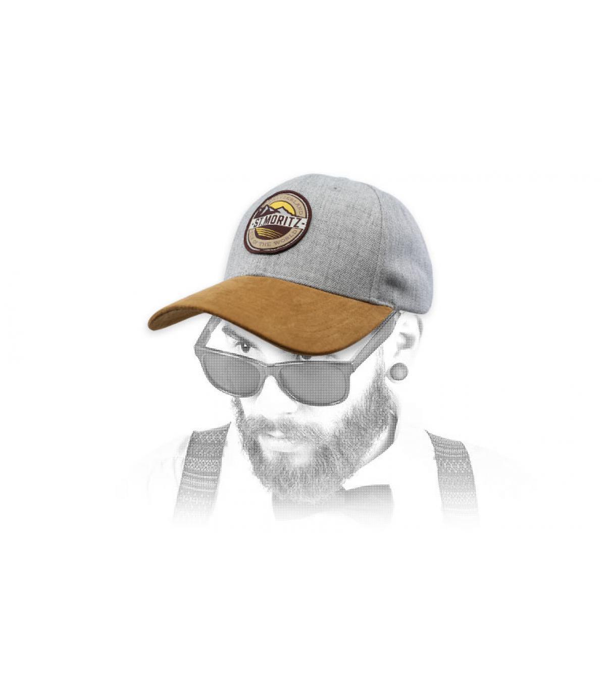 cappello grigio di st moritz