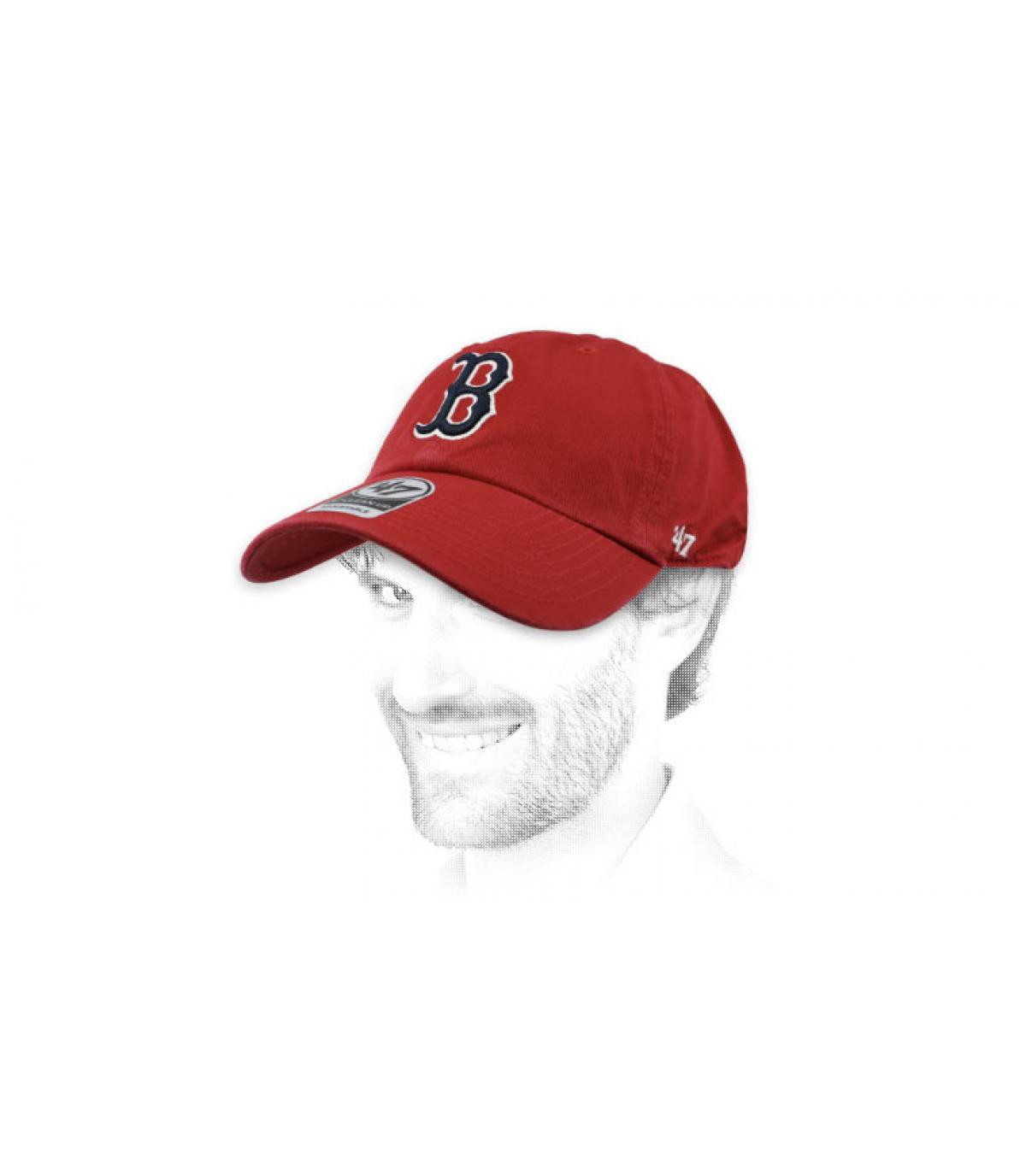 cappuccio curva Boston rosso