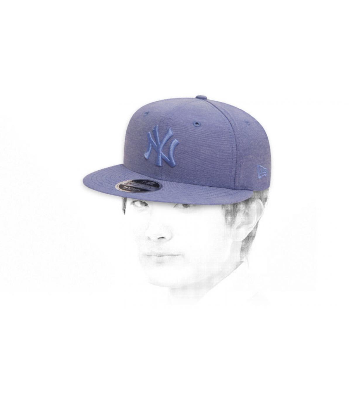 snapback cielo blu NY