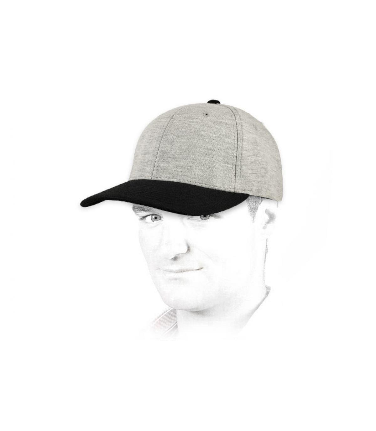 Cappellino jersey grigio nero