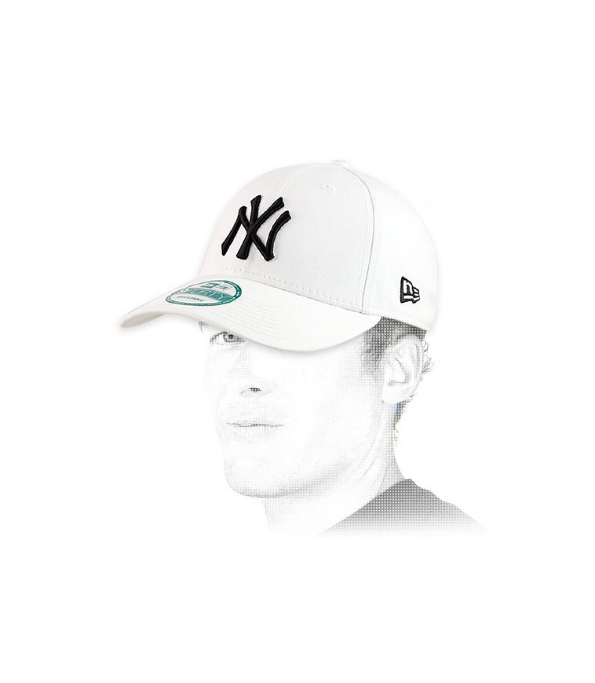 Dettagli White trucker NY fitted - image 5