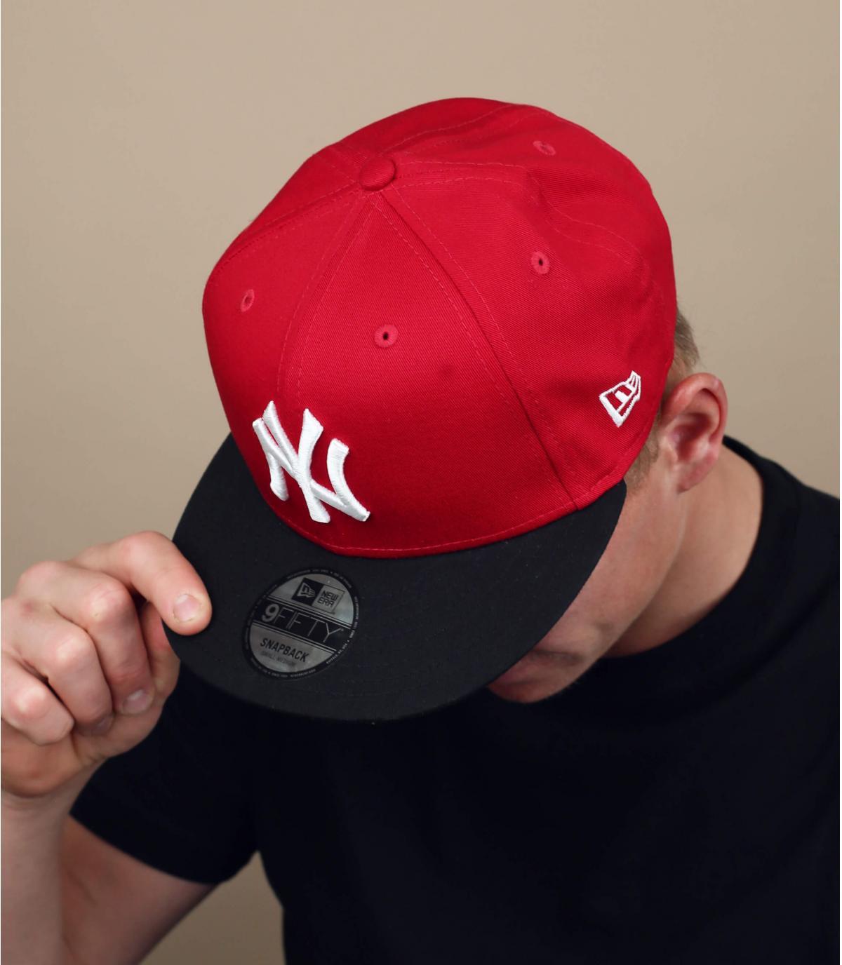 NY snapback back red