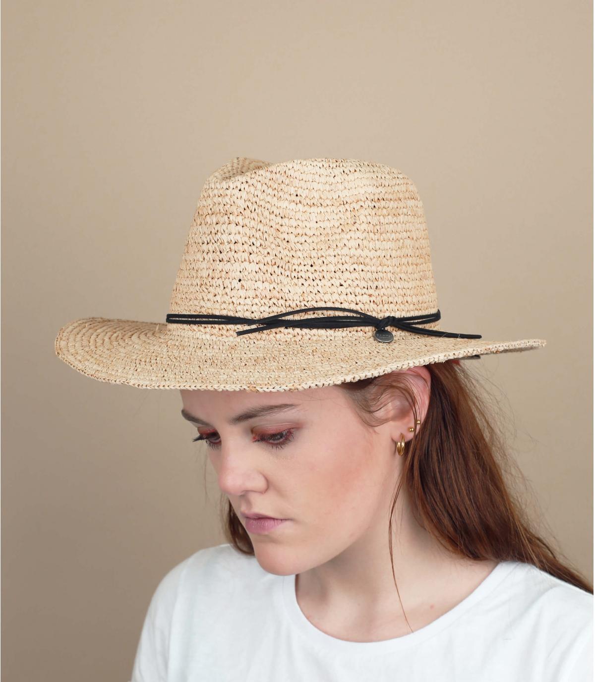 cappello di cowboy di paglia