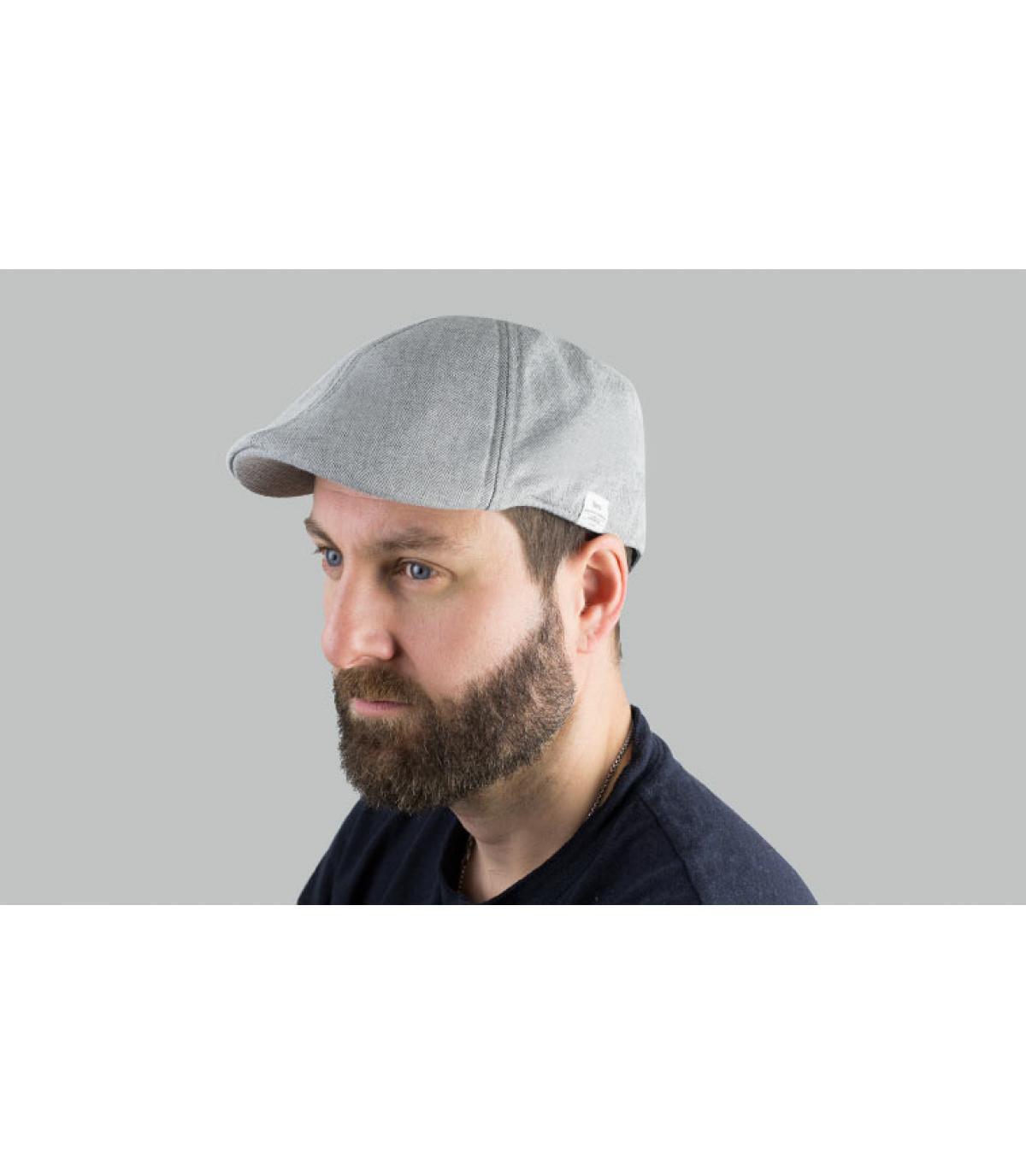 berretto di cotone grigio anatra