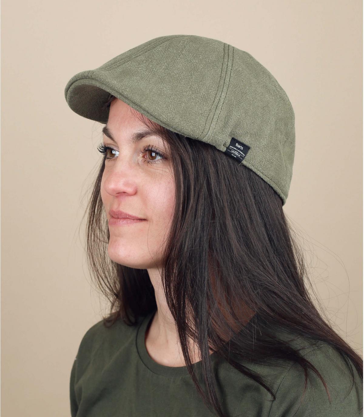 berretto di cotone verde anatre