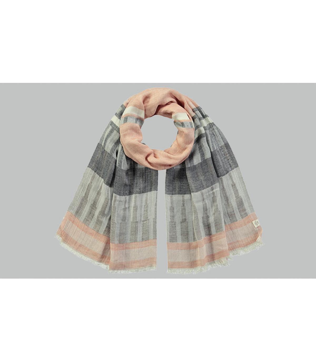 sciarpa di cotone strisce nere