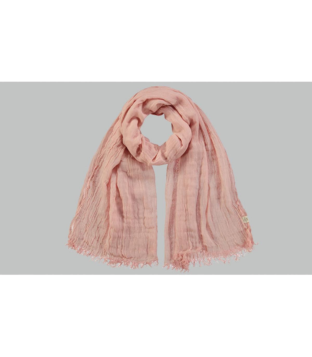 sciarpa di cotone rosa