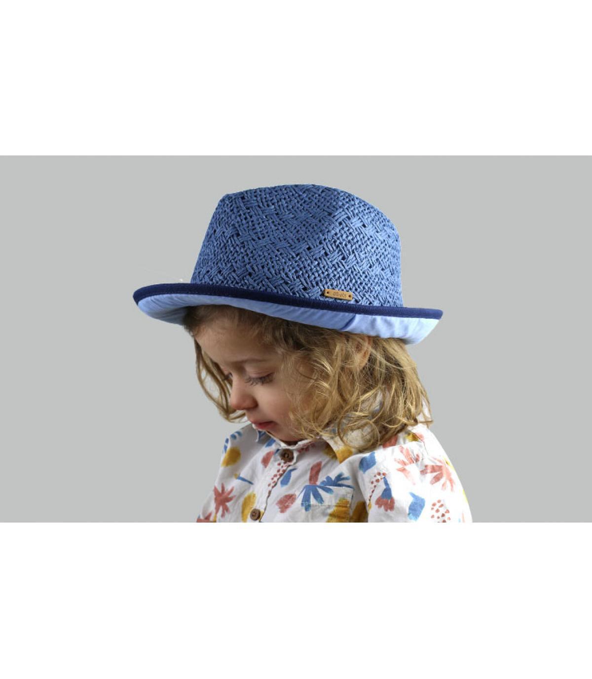 trilby bambino blu